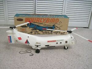 VINTAGE 60S REMCO WHIRLYBIRD HELICOPTER TOY WITH BOX BATTERY OPERATED NR
