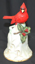 "Avon Bell Red Cardinal Holly Berries 6.5"" Bird Animal 2000 Collectible Vintage"