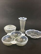 Lot Of Anchor Hocking Moonstone Opalescent Hobnail