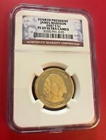 Fourth Président James Madison 2007 S Dollar NGC FAP 69 Ultra