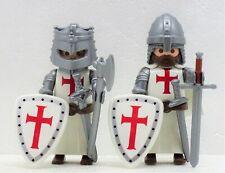 2 x KREUZRITTER TEMPELRITTER B PLAYMOBIL zu Crusader Templer vs Saladin Rock RAR