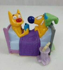 1999 Burger King Kid Meal Toy Cat Dog  Bed Time Story Viacom Nickelodeon
