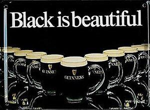 Guinness Black is Beautiful  mini sign / postcard 110mm x 80mm  *MULTI BUY OFFER