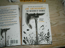 SIGNED 1st US print Wisdom of Crowds, NEW HARDCOVER 2021 by Joe Abercrombie