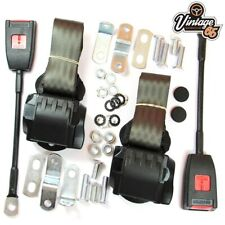 Classic VW Front Pair Fully Automatic Inertia Grey Seat Belt Kits E Approved