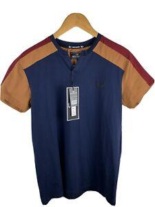 Nick Danger Men's Short Sleeve T-Shirt Navy Size S $58 NWT
