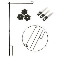 Garden Flag Rubber Stoppers Plastic Clip Windproof Plug Pole Bracket Accessories