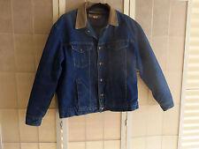 Vintage Wrangler Men's Ranch/Cowboy Lined Denim Jean Jacket Size 46