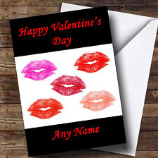 Lots Of Lipstick Kisses Personalised Valentine's Greetings Card
