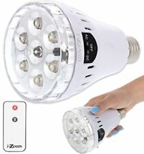 Emergency Light Bulb with Remote, Recharges in socket, Portable Power for Storms