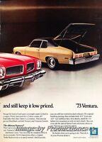 1973 Pontiac Ventura Original 2-page Advertisement Print Art Car Ad J766