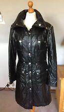 DOLCE & GABBANA LADIES BLACK QUILTED SHINY COAT JACKET SIZE 12-14 UK
