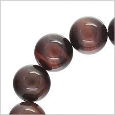 """15 Red Tiger's Eye Round Beads ap. 14mm 8"""" #81067"""