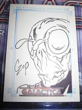 THE COMPLETE BATTLESTAR GALACTICA SEASON 1 SKETCHAFEX SKETCH CARD JOHN CZOP