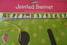 JOINTED LETTER BANNER HAPPY BIRTHDAY CUP FAIRY CAKE CUPCAKE 2.2mtr