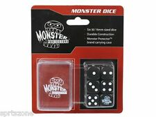 Dice - Monster Protectors Set of 6 D6 Logo Die with Pocket Carrying Case BLACK
