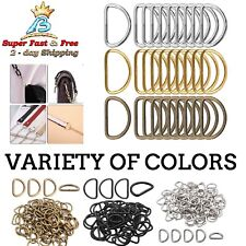 Metal D Rings Buckles For Ties Collar Belts Bag Ring Clothes Straps Accessories
