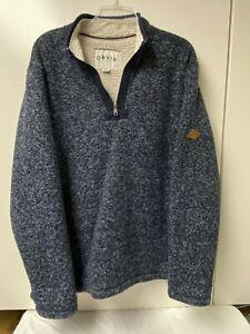 Orvis Men's Sherpa-Lined 1/4-Zip Pullover Heavy Fleece Sweatshirt/Jacket Size XL