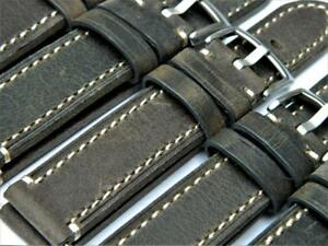 Handmade Watch Strap Genuine Cowhide Vintage Effect Durable Stitching 18mm-22mm