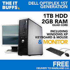 Dell Optiplex Quad Core 2gb 1TB HDD Windows XP - Escritorio Pc Ordenador Lote