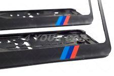 2x BMW F10 F30 F31 F11 F15 F16 M5 M-POWER KENNZEICHENHALTER NUMMERNSCHILD HALTER