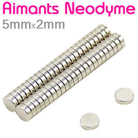 Lot Petit Aimant Frigo Neodyme Neodium Disque Rond Fort Strong Magnet 5mm x 2mm