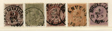 Belgium - Sc# 55 - 59 Used / Nice date stamps / Lot 1120086