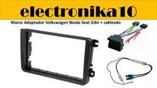 Volkswagen SEAT Skoda marco de montaje para radio doble DIN kit cableado Fakra
