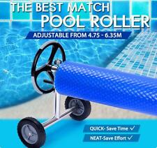 Pool Cover Roller Reel Adjustable From 4.75 To 6.35M Stainless Steel Stands