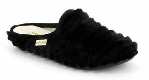 GRUNLAND ciabatte pantofole donna GAYE CI1414 NERO morbida pile caldo