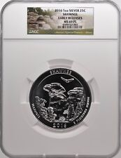 2016 5oz SILVER 25C Shawnee  NGC MS 69PL Early Releases must see!
