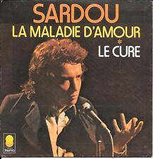 """45 TOURS / 7"""" SINGLE--MICHEL SARDOU--LA MALADIE D'AMOUR / LE CURE"""