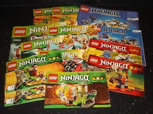 Lego Ninjago / The Ninjago Movie - 1x Set of Instructions - Multiple Variations!