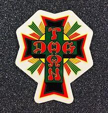 Dogtown Rasta Cross Skateboard Sticker SMALL 2in x 1.6in si