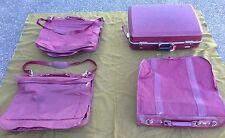"Vtg 4pc American Tourister Escort 27"" Suitcase & Garment Hanging Bag Luggage Set"