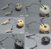 Airsoft FMA Fast Helmet Rail Adapter Set Swat Ops Core Peltor Headset BK/DE/FG