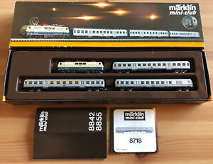Märklin Spur Z mini-club / Set 8101 mit 8855 E-Lok und 8718, Silberlinge / Neu!?