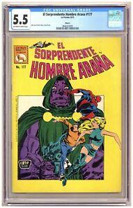 El Sorprendente Hombre Araña 177 (CGC 5.5) Amazing Spider-Man Mexican Edition