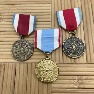 Daughters of the Revolution ROTC Miltary & Academic Award Badge Medal Lot of 3