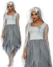 Ladies Ghost Bride Corpse Bride Halloween Adult Fancy Dress Costume