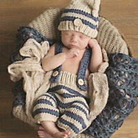 Newborn Baby Girls Boys Photo Photography Prop Crochet Knit Costume Outfits AU