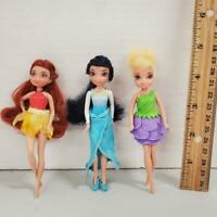 "Disney Fairy 5"" Dolls Lot SILVERMIST ROSETTA TINKERBELL Jakks - w/ Dresses CUTE"