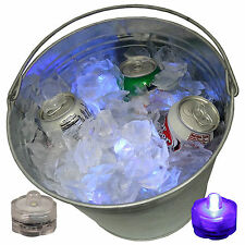 Wow Sick Rave Beer Ice Bucket Bright Glow Led Lights Submersible Party 24 Purple