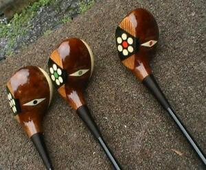 RARE VINTAGE Antique MacGregor CHIEFTAIN FANCY FACE WOOD SET RESTORED 1920