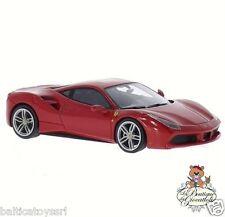 Burago -  Ferrari 488 GTB rosso scuro scala 1/24 26013