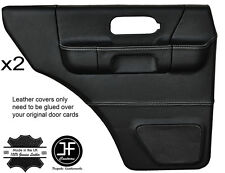 WHITE STITCH 2X REAR FULL DOOR CARD LTHR COVERS FITS LAND ROVER DISCOVERY 96-04