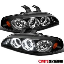 Fit 92-95 Honda Civic 2/3/4Dr Black LED DRL Halo Projector Headlights