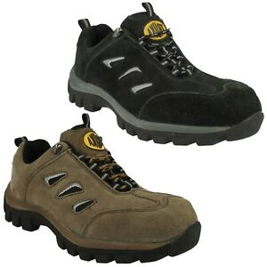 MENS TRUKA  A2R051 LACE SAFETY STEEL TOE CAP SUEDE LEATHER WORK SHOES TRAINERS