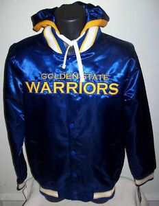 GOLDEN STATE WARRIORS Jacket XL 2X BLUE & YELLOW Removable Hood