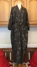 Vintage Double Peach Reversible Chinese Robe Gown Kimono Black Dragons Design